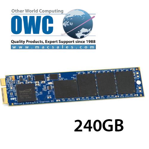 OWC Aura 6G SSD 240GB for MacBook Air 2010 / 2011 Edition ドライブケース付