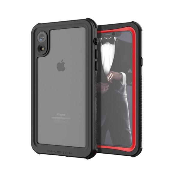 GHOSTEK iPhone XR Nautical Red IP68防水防塵タフネスケース