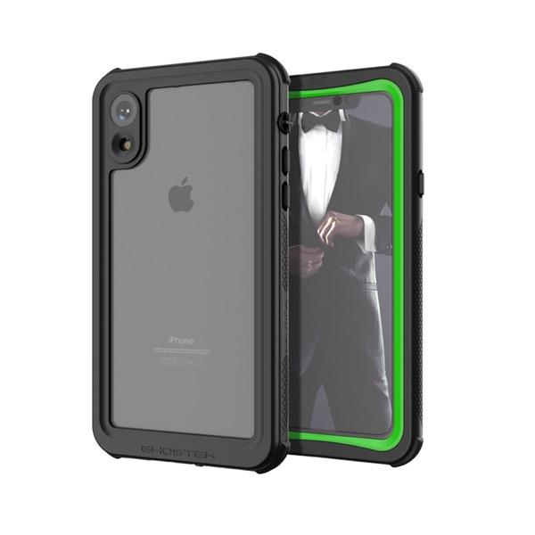 GHOSTEK iPhone XR Nautical Green IP68防水防塵タフネスケース