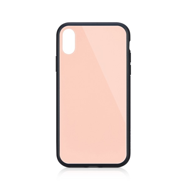 Simplism iPhone XS / X [GLASSICA] 背面ガラスケース (Solid color) ピンク