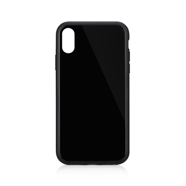 Simplism iPhone XR [GLASSICA] 背面ガラスケース(Solid color) ブラック