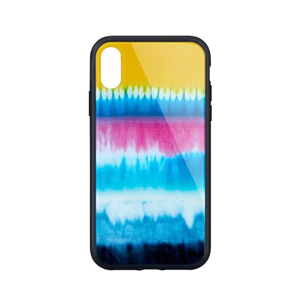 Simplism iPhone XR [GLASSICA] 背面ガラスケース(Pattern) タイダイ