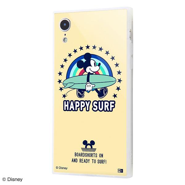 ingrem iPhone XR ディズニーキャラクター 耐衝撃ケース KAKU トリプルハイブリッド ミッキーマウス Happy Surf