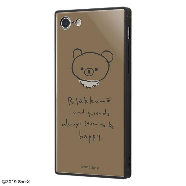 ingrem iPhone SE 第2世代 / 8 / 7 リラックマ 耐衝撃ケース KAKU トリプルハイブリッド 手書き風_4