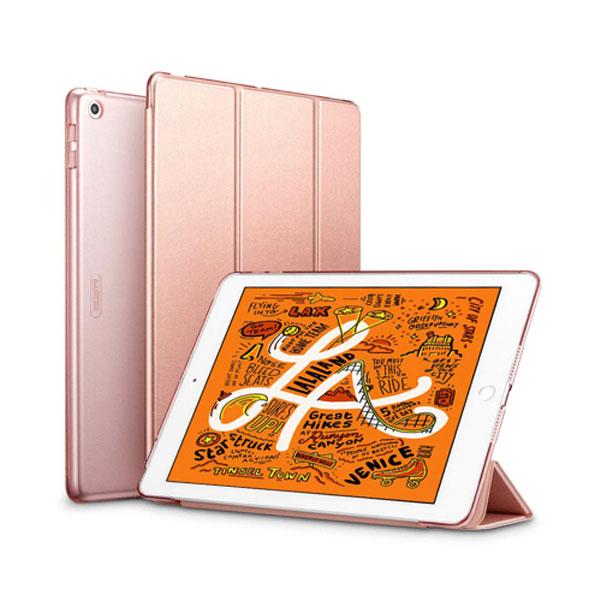 ESR iPad mini 第5世代 ウルトラスリム Smart Folio ケース ローズゴールド