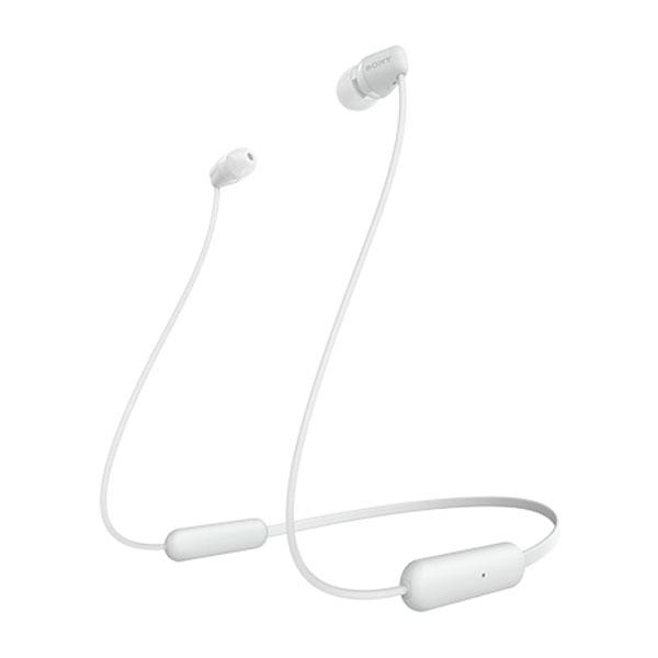 SONY WI-C200 Bluetooth 5.0 ワイヤレス ステレオヘッドセット マグネット搭載 カナル型 マット ホワイト