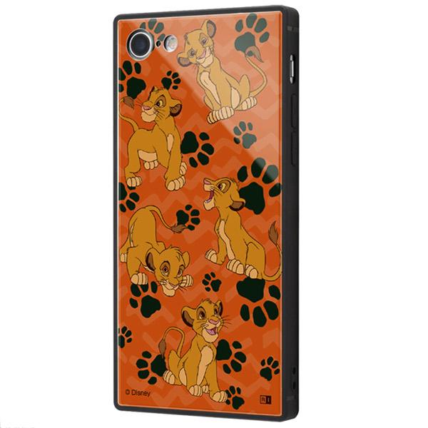 ingrem iPhone SE 第2世代 / 8 / 7 ライオン・キング 耐衝撃ケース KAKU トリプルハイブリッド 総柄_01
