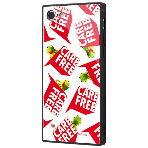 ingrem iPhone SE 第2世代 / 8 / 7 マペッツ 耐衝撃ケース KAKU トリプルハイブリッド カーミット Care free_3