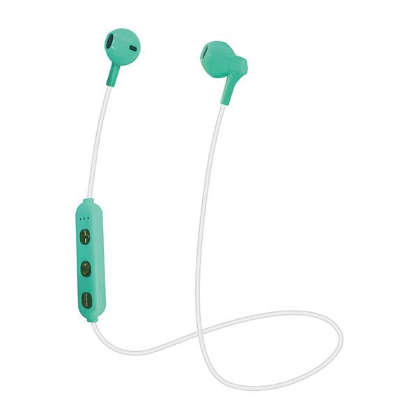 たのしいかいしゃ いい音 Bluetooth 5.0 インナーイヤーイヤホン グリーン