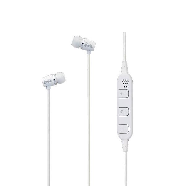たのしいかいしゃ いい音 Bluetooth 5.0 ワイヤレス アルミ製カナル型イヤホン ホワイト