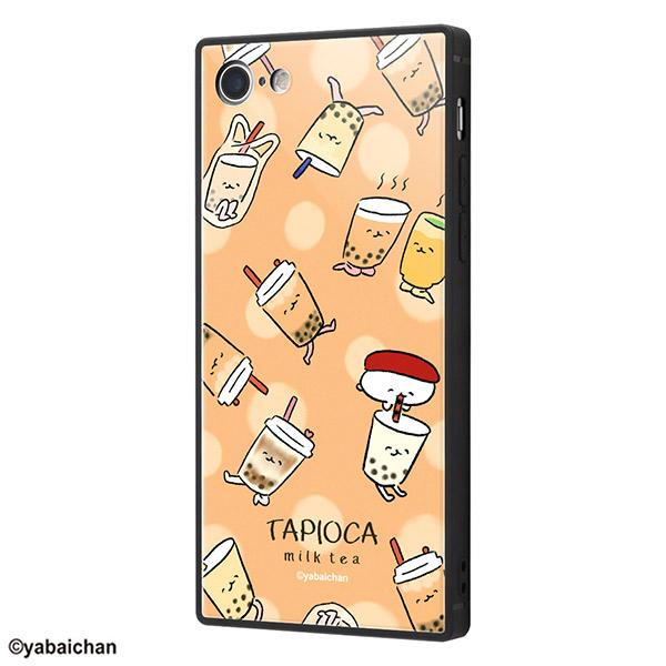ingrem iPhone SE 第2世代 / 8 / 7 おしゅしだよ 耐衝撃ケース KAKU トリプルハイブリッド 総柄4