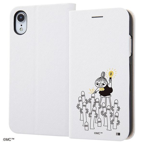 ingrem iPhone XR ムーミン 手帳型ケース マグネットタイプ シンプル_3