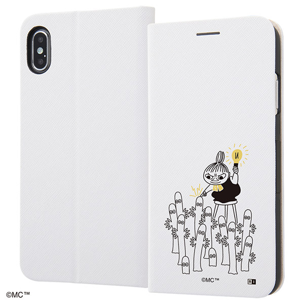 ingrem iPhone XS Max ムーミン 手帳型ケース マグネットタイプ シンプル_3