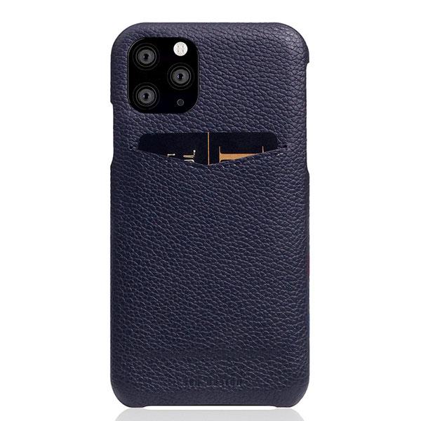 SLG Design iPhone 11 Pro Full Grain Leather Back Case 本革 カードホルダー付 背面ケース Black Blue
