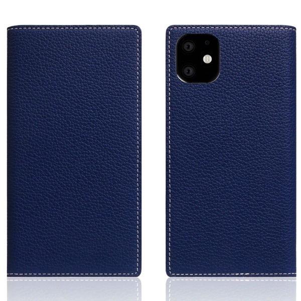 SLG Design iPhone 11 / XR Full Grain Leather Case 本革 手帳型ケース Navy Blue