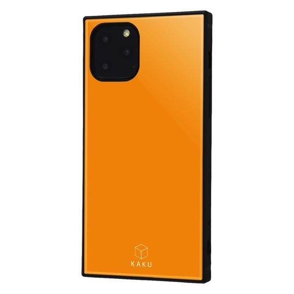 ingrem iPhone 11 Pro 耐衝撃ハイブリッドケース KAKU オレンジ