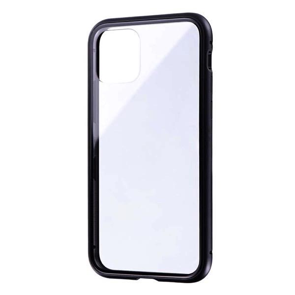 LEPLUS iPhone 11 Pro ガラス&アルミケース SHELL GLASS Aluminum ブラック