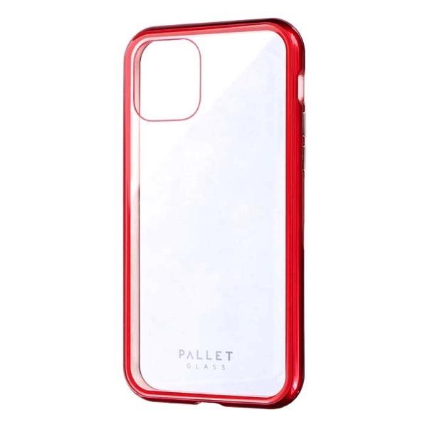 LEPLUS iPhone 11 Pro ガラスハイブリッドケース SHELL GLASS COLOR クリアレッド
