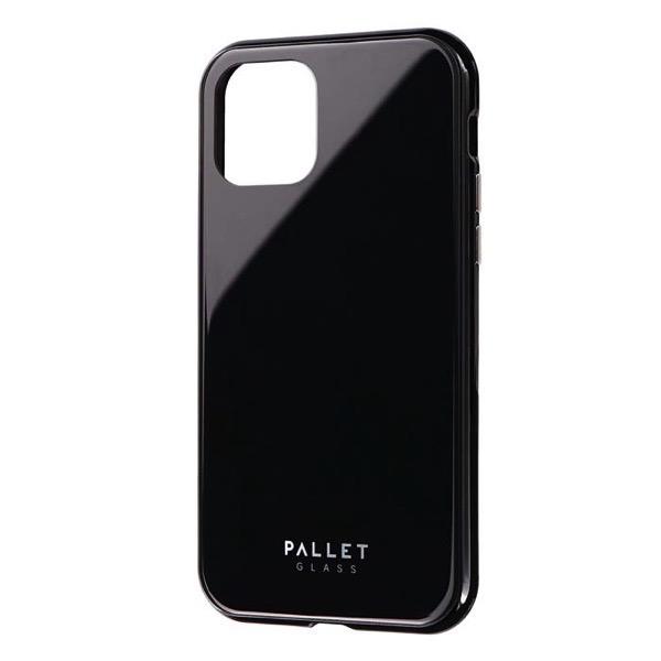 LEPLUS iPhone 11 Pro ガラスハイブリッドケース SHELL GLASS COLOR ブラック