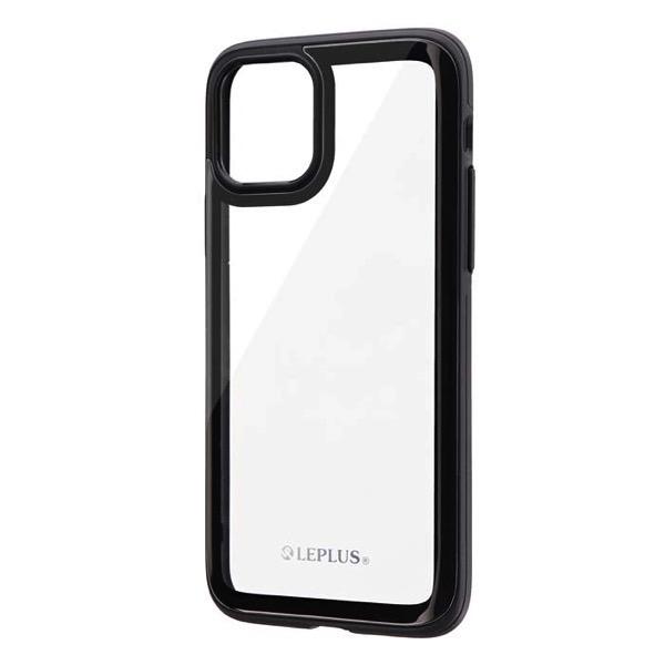 LEPLUS iPhone 11 Pro 背面3Dガラスシェルケース SHELL GLASS Round ブラック