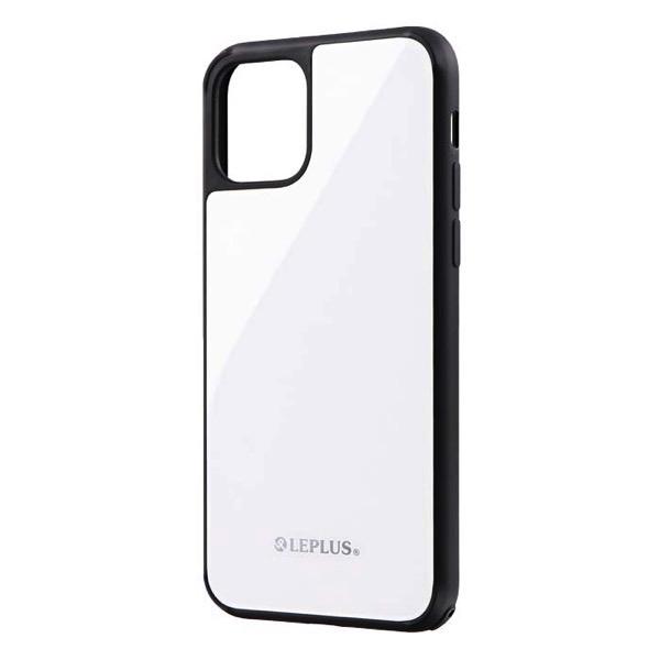LEPLUS iPhone 11 Pro 背面ガラスシェルケース SHELL GLASS ホワイト