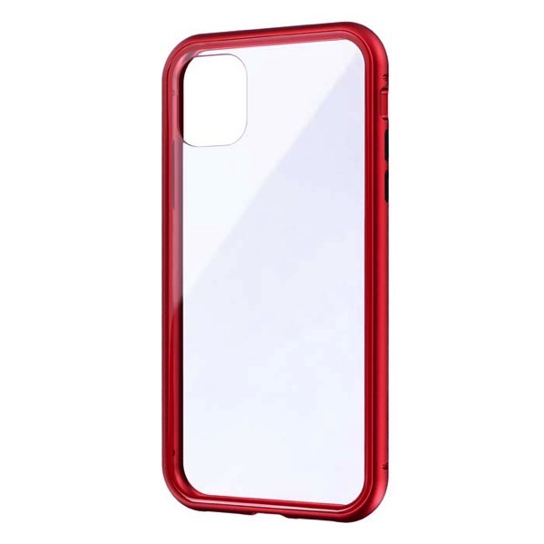 LEPLUS iPhone 11 ガラス&アルミケース SHELL GLASS Aluminum レッド