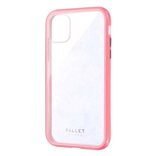 LEPLUS iPhone 11 ガラスハイブリッドケース SHELL GLASS COLOR クリアピンク