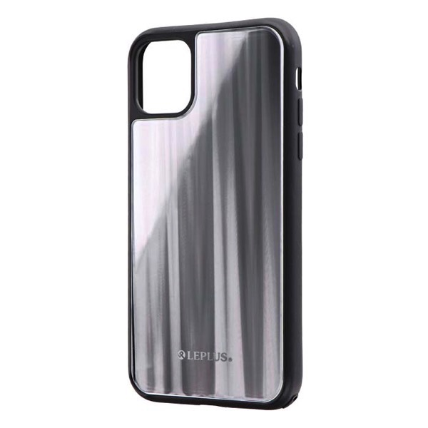 LEPLUS iPhone 11 背面ガラスシェルケース SHELL GLASS シルバー