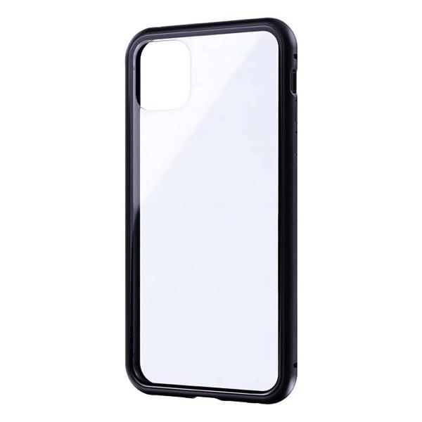 LEPLUS iPhone 11 Pro Max ガラス&アルミケース SHELL GLASS Aluminum ブラック