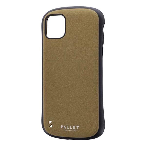 LEPLUS iPhone 11 Pro Max 超軽量・極薄・耐衝撃ハイブリッドケース PALLET STEEL イエローベージュ