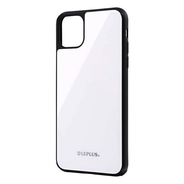 LEPLUS iPhone 11 Pro Max 背面ガラスシェルケース SHELL GLASS ホワイト