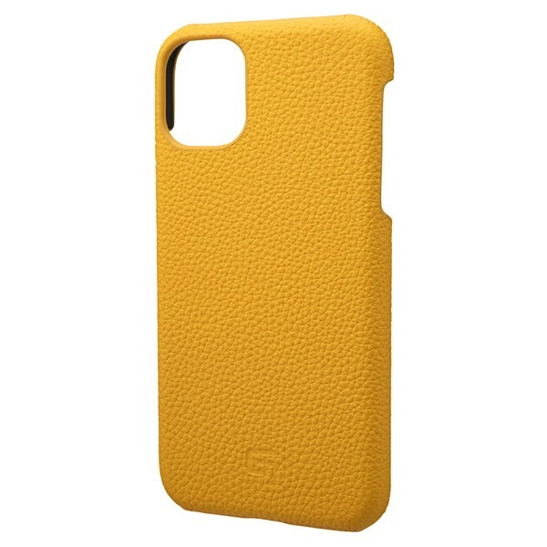GRAMAS iPhone 11 Shrunken-calf Leather Shell Case イエロー
