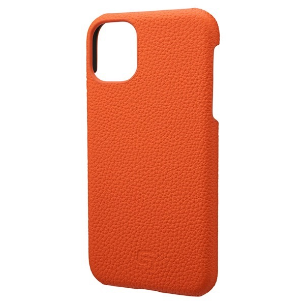 GRAMAS iPhone 11 Shrunken-calf Leather Shell Case オレンジ