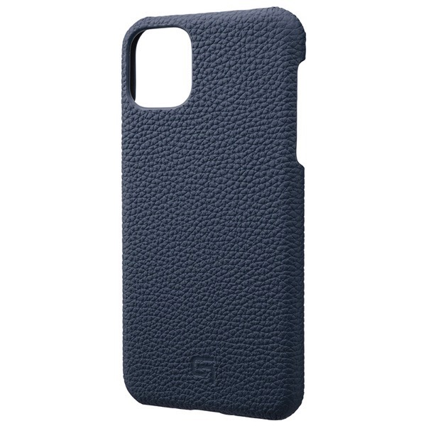 GRAMAS iPhone 11 Pro Max Shrunken-calf Leather Shell Case ネイビー