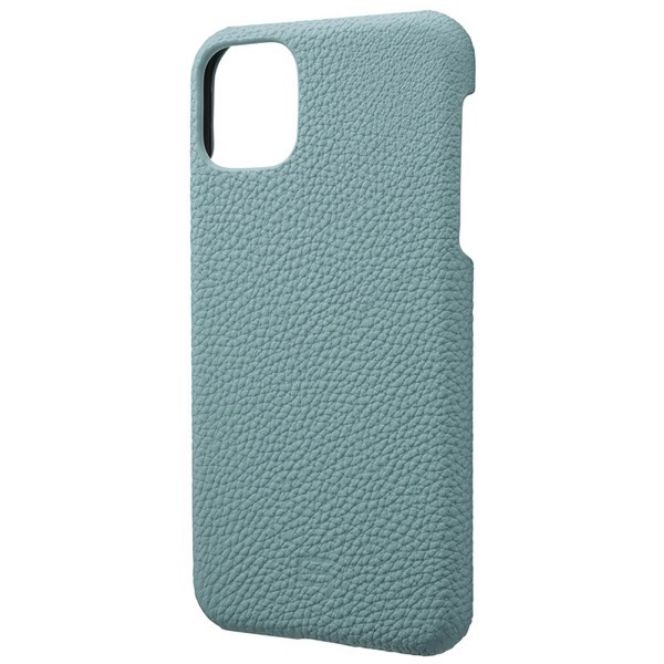 GRAMAS iPhone 11 Pro Max Shrunken-calf Leather Shell Case ベイビーブルー