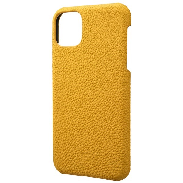 GRAMAS iPhone 11 Pro Max Shrunken-calf Leather Shell Case イエロー