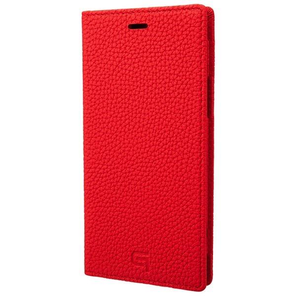 GRAMAS iPhone 11 Pro Shrunken-calf Leather Book Case レッド