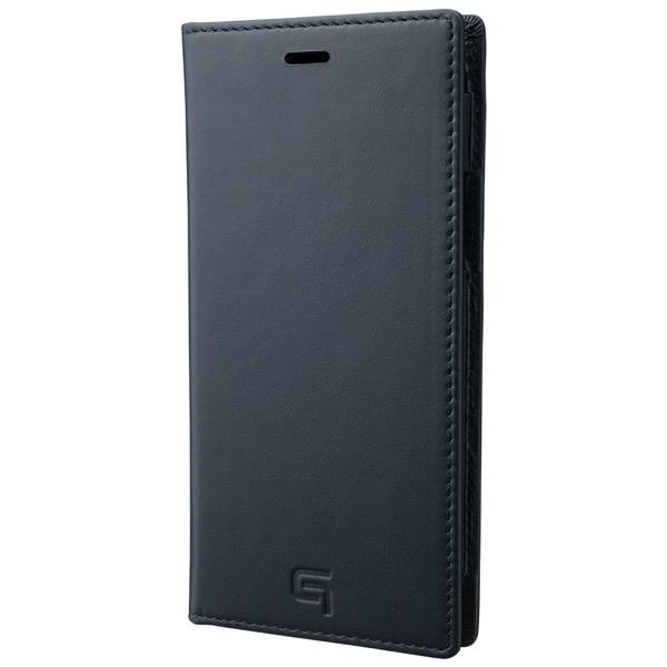 GRAMAS iPhone 11 Pro Genuine Leather Book Case ネイビー
