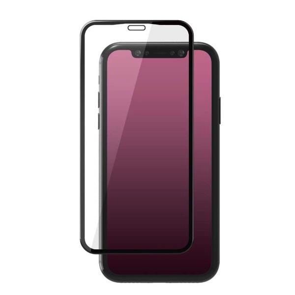 エレコム iPhone 11 / XR フルカバーガラスフィルム 3次強化 セラミックコート ブラック