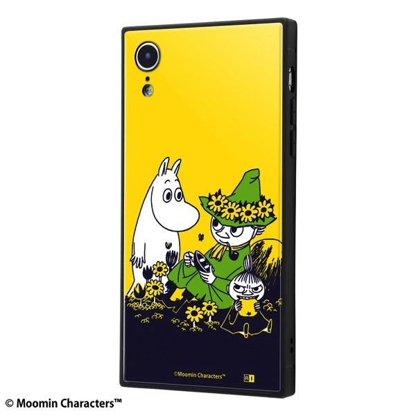 ingrem iPhone XR ムーミン 耐衝撃ケース KAKU トリプルハイブリッド/お花畑