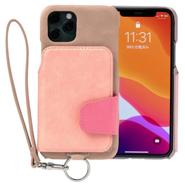 RAKUNI iPhone 11 Pro Soft Leather Case スモーキーピンク