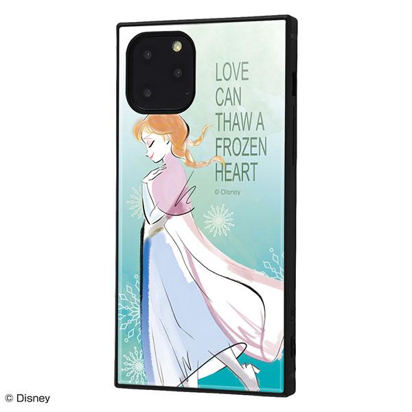 ingrem iPhone 11 Pro ディズニーキャラクター 耐衝撃ケース KAKU ハイブリッド アナと雪の女王 アナ