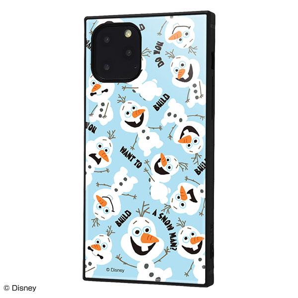 ingrem iPhone 11 Pro ディズニーキャラクター 耐衝撃ケース KAKU ハイブリッド アナと雪の女王 オラフ