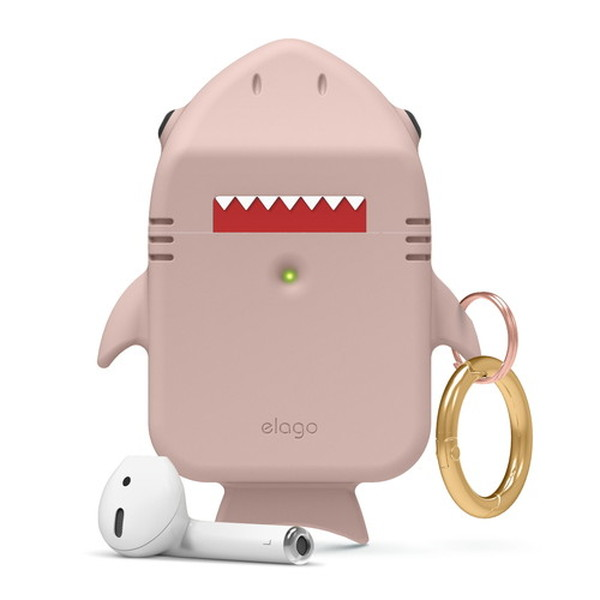 elago AirPods SHARK CASE シリコンケース Sand Pink