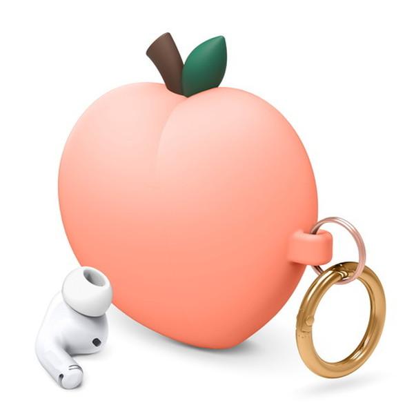 elago AirPods Pro PEACH HANG シリコンケース Peach