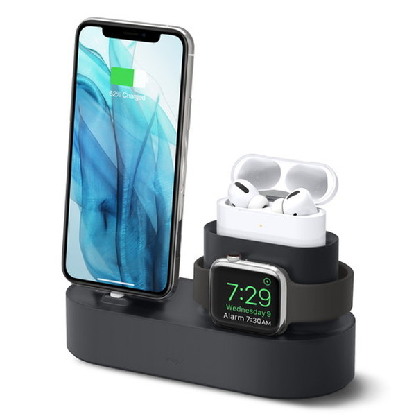 elago iPhone / AirPods Pro / Apple Watch CHARGING HUB PRO 3in1 充電スタンド Black