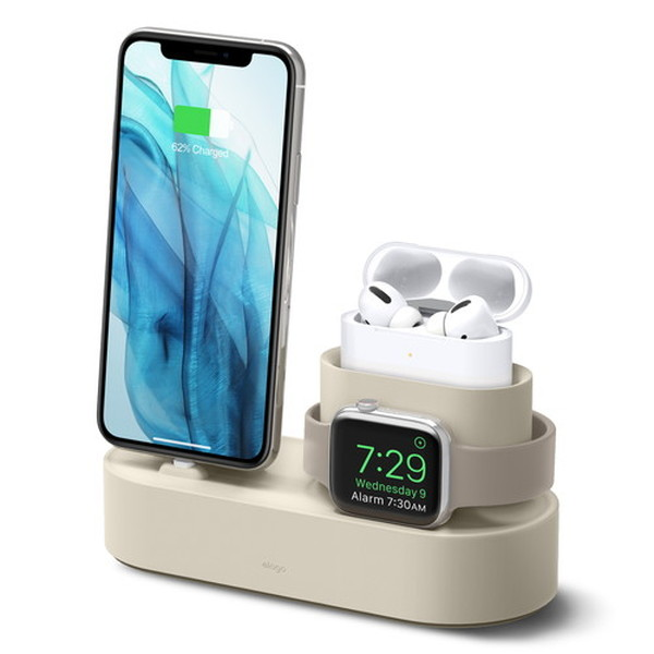 elago iPhone / AirPods Pro / Apple Watch CHARGING HUB PRO 3in1 充電スタンド Classic White