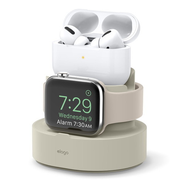 elago iPhone / AirPods Pro / Apple Watch MINI CHARGING HUB PRO Classic White