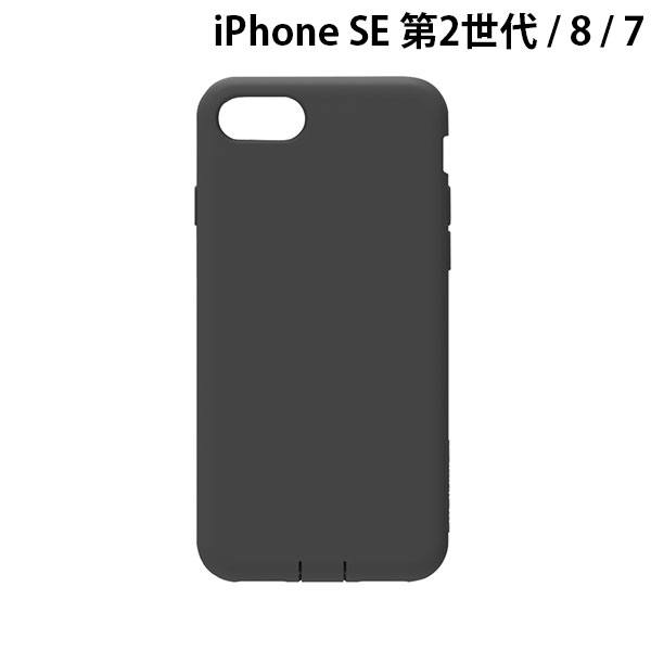 Simplism iPhone SE 第2世代 / 8 / 7 [Cushion] 衝撃吸収シリコンケース ブラック