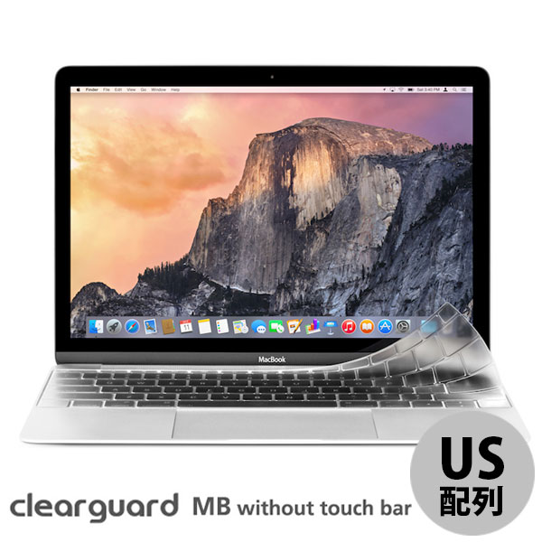 moshi Touch Bar 非搭載のMacBook Pro 13 Late 2016 MacBook 12 薄型 Clearguard キーボードカバー US配列